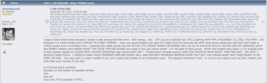 original hodl forum post