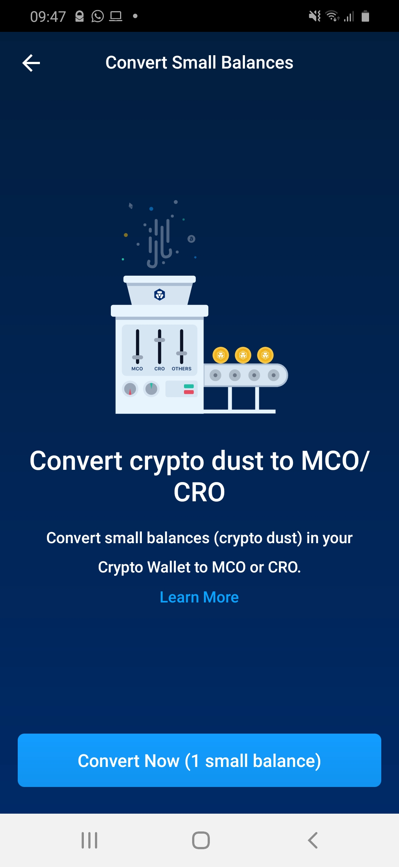 dust conversion cro